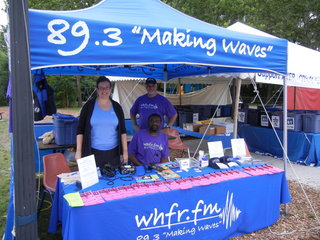 Broadcasting and Logo sales tent