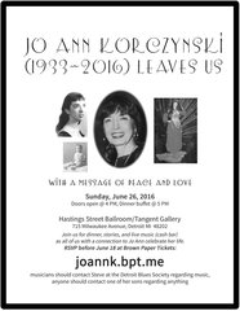 6-26-16 Memorial Event for WHFR DJ: Jo Ann Korczynska