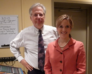"Jocelyn Benson with Jay Korinek, ""Journal"" host"